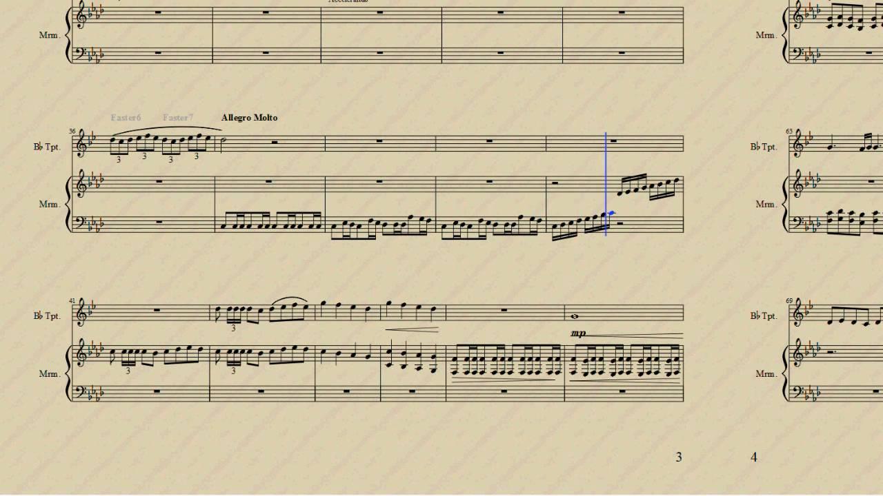 Santic, duet for Trumpet and Marimba