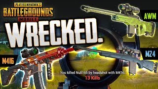 WRECKING WITH THE M416, M24 & AWM - PUBG Mobile