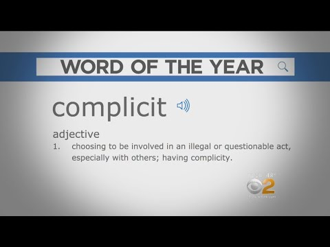 Word Of The Year 2017: Complicit