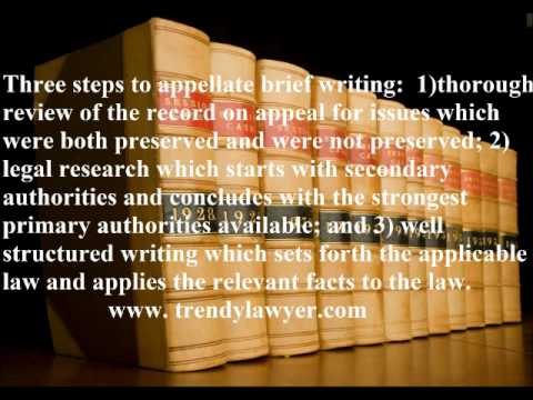 how to write an appellate brief In post-verdict motions - 2001 judicial survey - 1997 legal writing - 2004  author/speaker for university of texas cle program on appellate brief writing - .