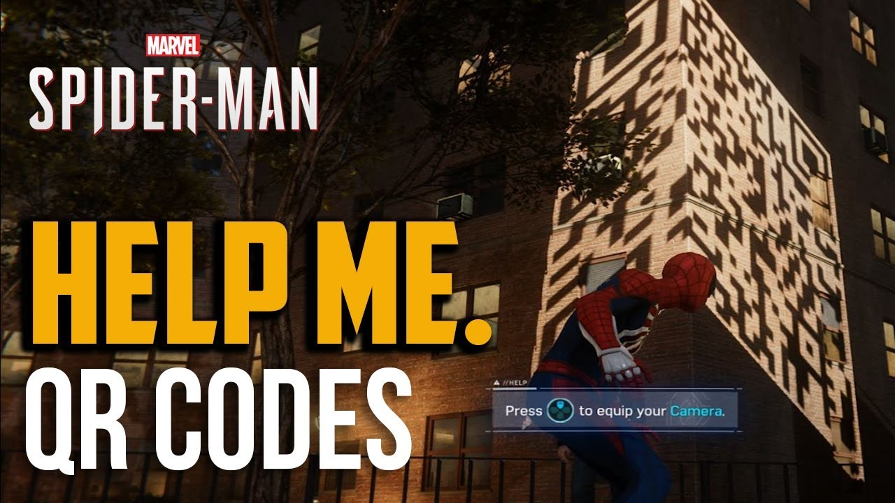 Spiderman PS4: QR Codes Photo Picture Locations (Internet Fame Side Mission)