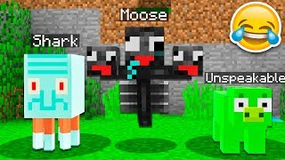 TRY TO WATCH THIS WITHOUT LAUGHING OR GRINNING! 😂 w/ UNSPEAKABLEGAMING, 09SHARKBOY, MOOSECRAFT!