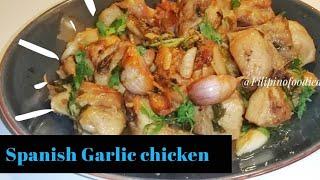 How to Cook Spanish Garlic chicken  Pollo al ajillo
