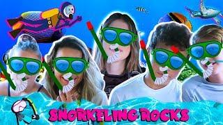 MAUI SNORKELING ROCKS- ANNIE LEBLANC, HAYDEN SUMMERALL, UNCLE RUSH, BROOKE AND HAYLEY