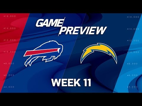 Buffalo Bills vs. Los Angeles Chargers | NFL Week 11 Game Preview | NFL Playbook