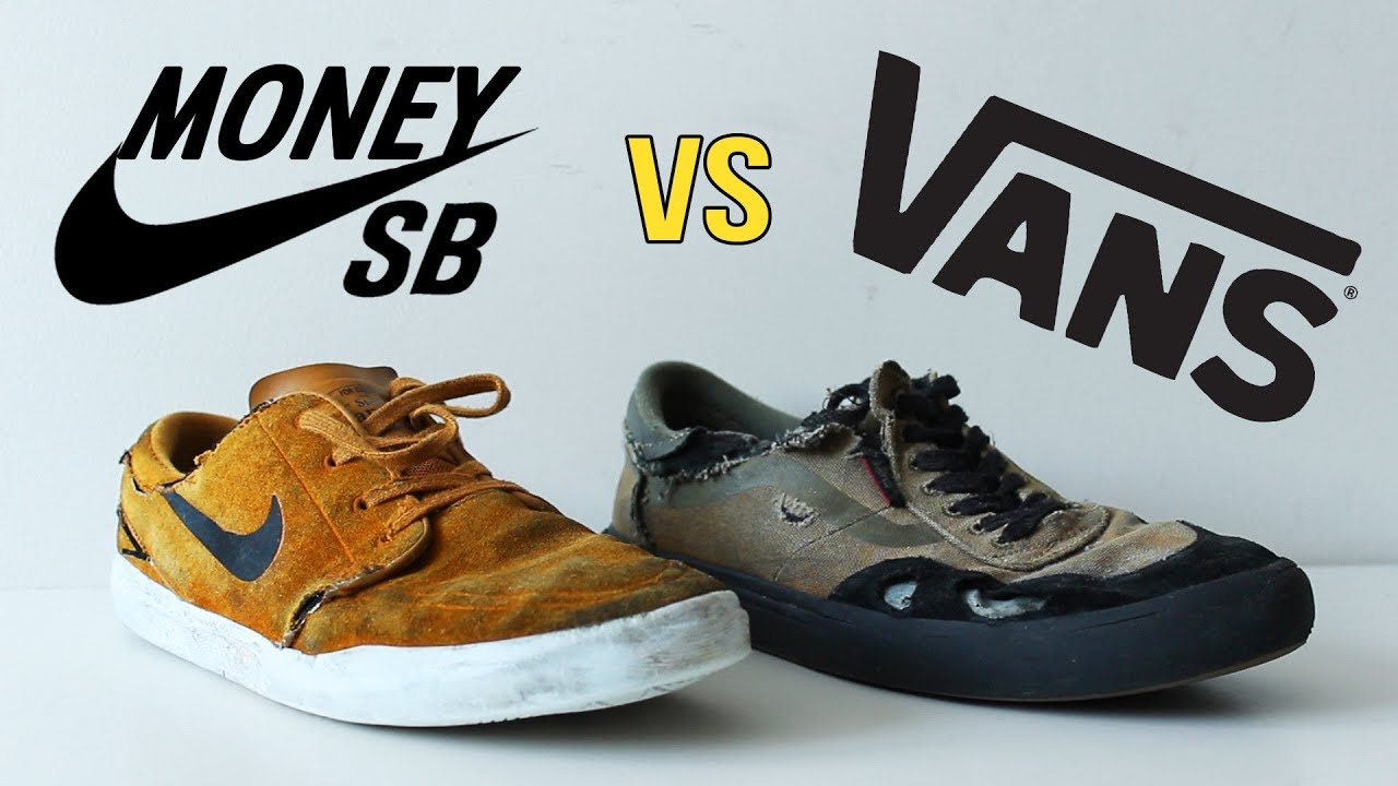 vans shoes size vs nike