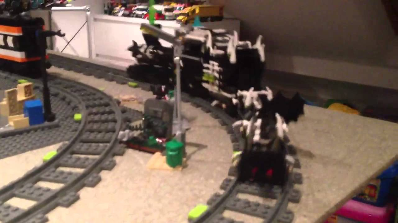 lego ghost train 9467 modified with power functions youtube - Lego Halloween Train