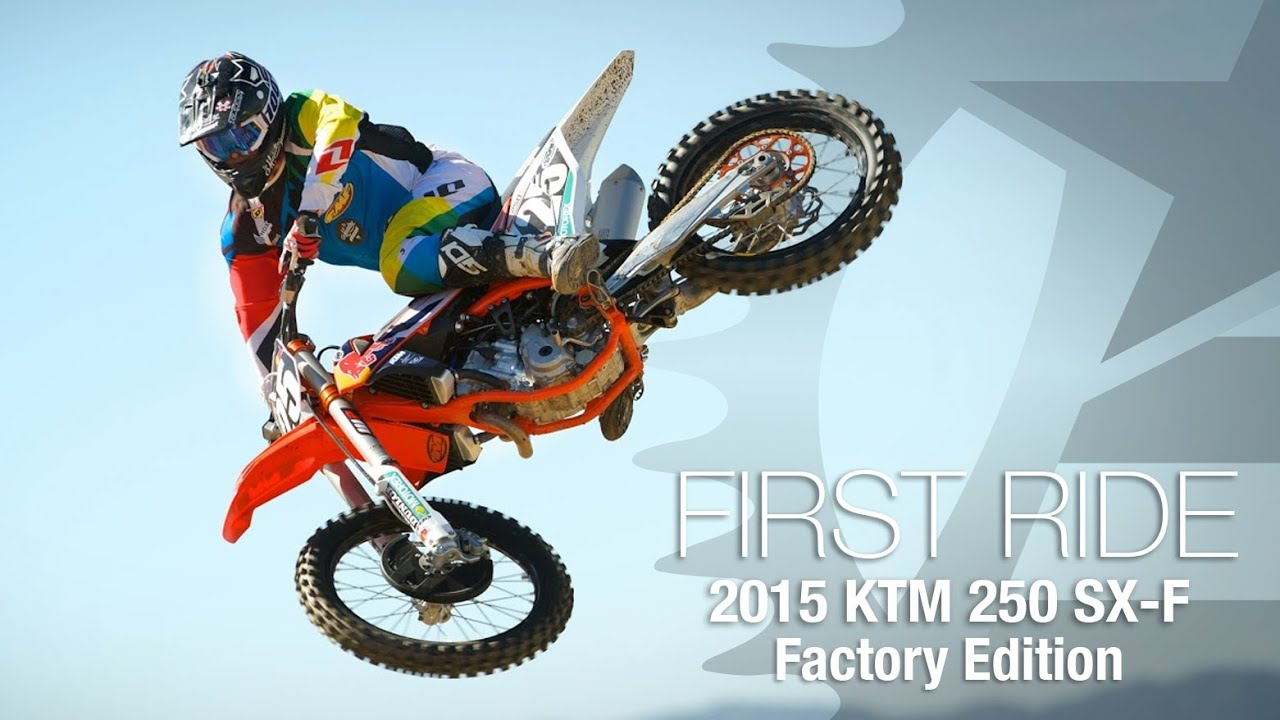 2015 ktm 250 sx-f factory edition first ride - motousa - youtube