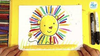 Как нарисовать ЛЬВА / Урок рисования для детей от 3 лет РыбаКит