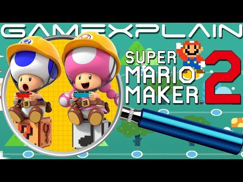 Super Mario Maker 2 Direct ANALYSIS: Online, Maker Profile & Multiplayer!