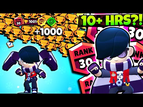 +1000 Trophies At ONCE With New Brawler Edgar! Rank 30 Edgar Push!!