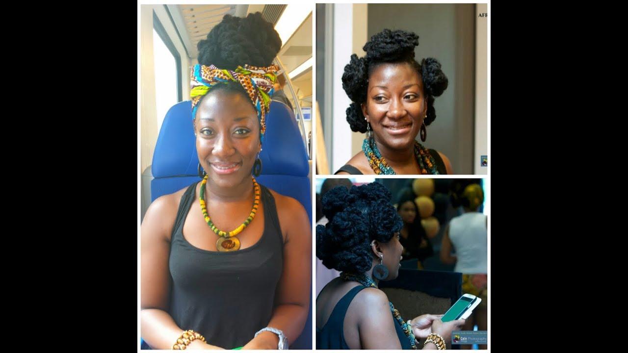 3 Afro Kinky Hair Styles Thin Natural Hair Youtube