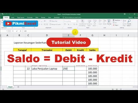 Tutorial Membuat Laporan Keuangan Sederhana Dengan Excel