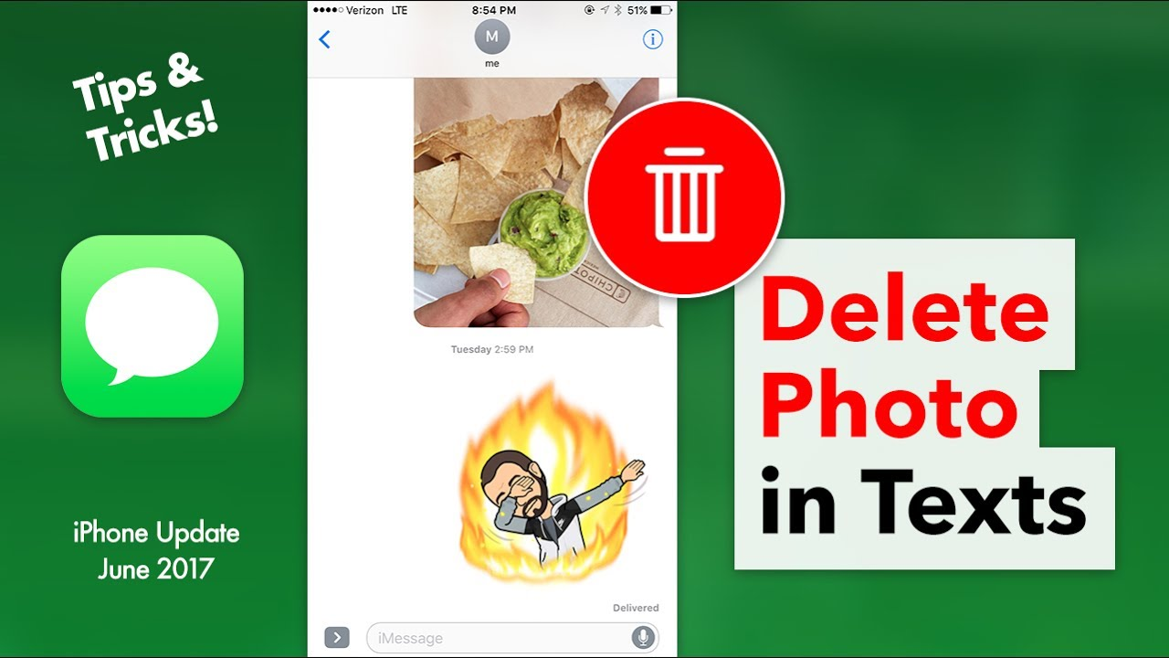 How To Delete A Photo In Your Texts Delete Messages Attachment Iphone