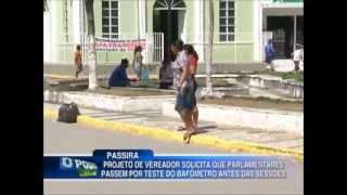 Vereador de Passira, PE faz projeto exigindo o uso do Bafômetro nas Sessões.