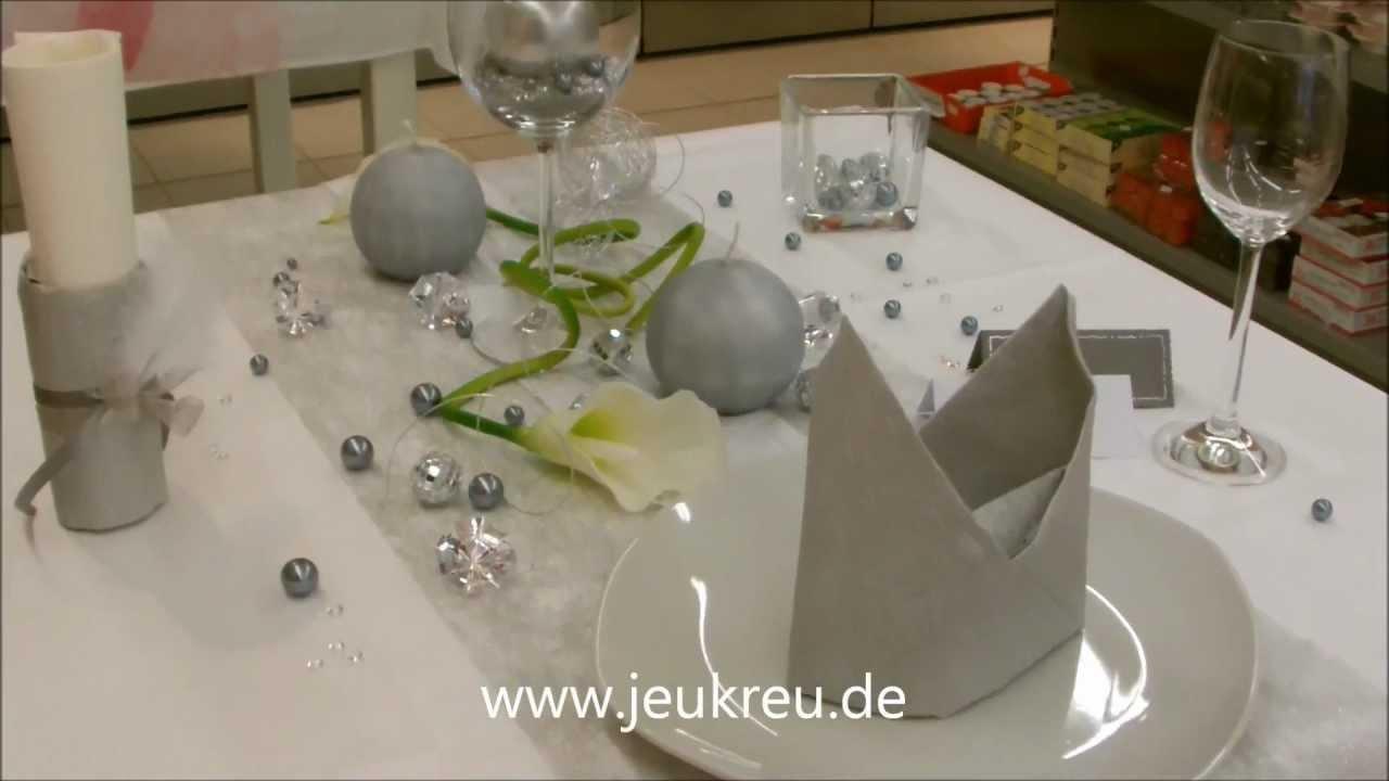 Tischdeko Silber Von Jeukreu De Youtube