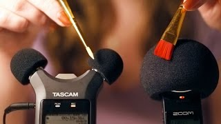 ASMR. Double Microphone Brushing