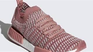 331b39d9d2799 Video Adidas NMD R1 Primeknit STLT Ash Pink and Ash Green ...