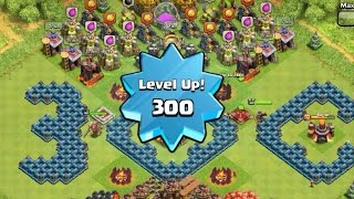 Highest/Max Level 300 Player, Capped Exp, Mission Accomplished!!! - Clash of Clans