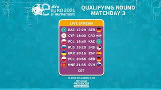 eEURO 2021 Qualifying Round: Groups A-E  (Matchday 3)