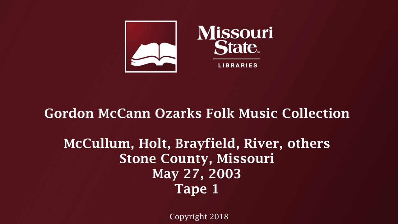 McCann: McCullum, Holt, Brayfield, River, others, May 27, 2003