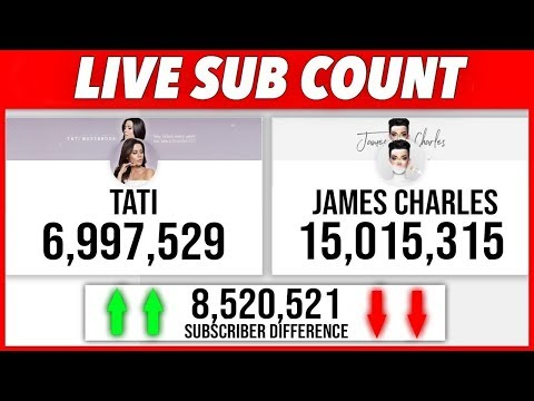 #JAMES CHARLES vs #TATI LIVE SUBCOUNT + fun chat!