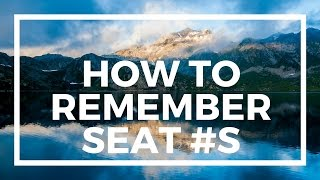 How To Remember Seat Numbers