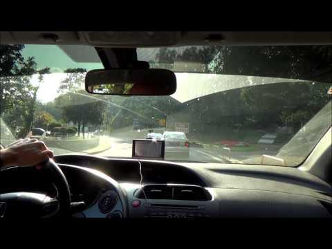 Driving from Rijeka to Lovran - Croatia (Hrvatska)