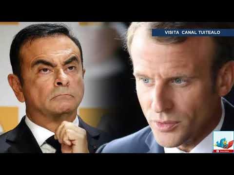 Macron 'en alerta' por detención de Carlos Ghosn presidente de Nissan Renault