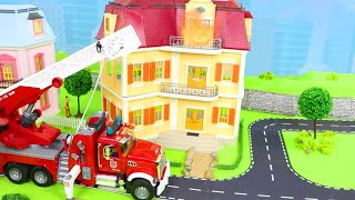 Excavator, Tractor, Fire Truck, Garbage Trucks  Police Cars Toy Vehicles for Kids