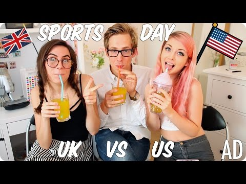 Sports Day & Recess! British vs American | Evan Edinger & Dodie Clark & Connie Glynn ft  Glasses #AD