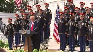 Trump holds American flag celebration instead of Eagles Super Bowl event
