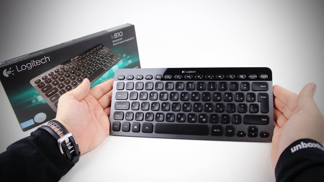 8b65ee80a50 Logitech K810 Bluetooth Illuminated Keyboard Unboxing & Review ...