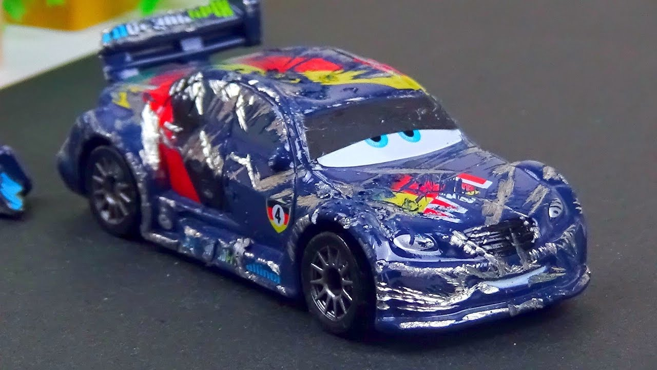 max schnell crash repair disney cars toys stop motion