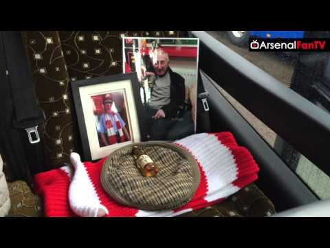 Arsenal Fans Classy Tribute Today To Ernie Crouch | Aston Villa 0 Arsenal 2