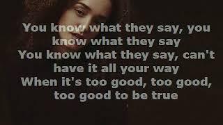 Too Good To Be True Lyrics Rhys