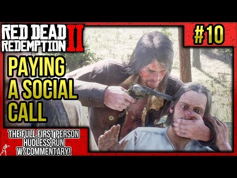 "Red Dead Redemption 2: First Person Mode No HUD Walkthrough P.10 ""Paying A Social Call"" w/Commentary thumbnail"