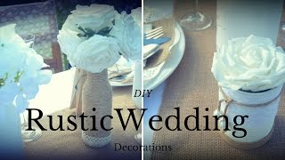 Wedding Rustic Decorations:  DIY wedding centrepieces: Recycled Craft Ideas