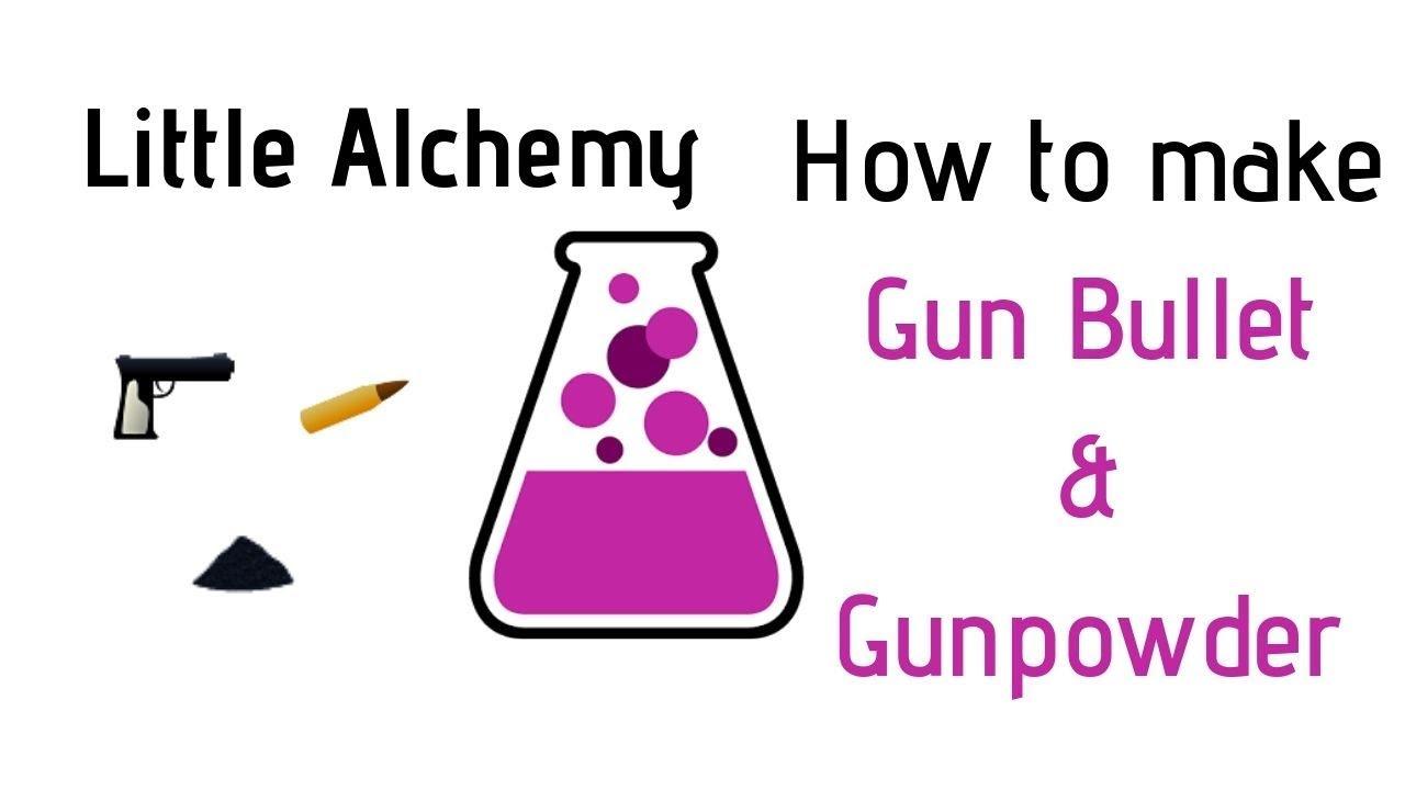 Little Alchemy How To Make Gun Bullet Gunpowder Cheats Hints Youtube