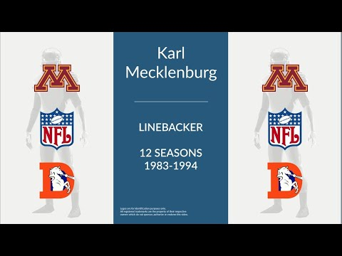 Karl Mecklenburg: Football Linebacker