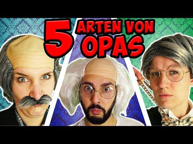5 ARTEN VON OPAS die jeder kennt: Schwerhöriger, Mecker-Opa, Reicher, Ekliger & Party-Opa + Outtakes