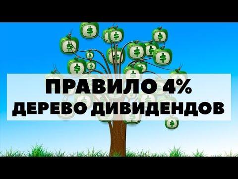 ПРАВИЛО 4% и ПЛОДОВОЕ ДЕРЕВО ДИВИДЕНДОВ. Почему выгодно инвестировать в акции и жить на дивиденды?