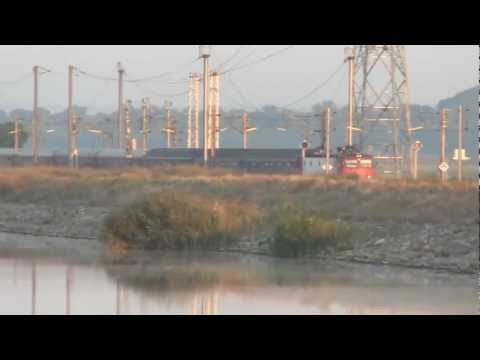 Train near the Danube - Black sea Canal , 2011.08.19..avi