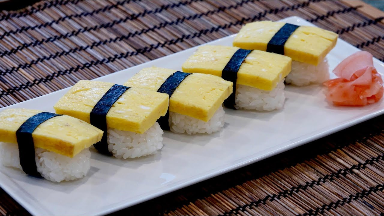 Tamago Sushi Recipe Japanese Cooking 101 Youtube