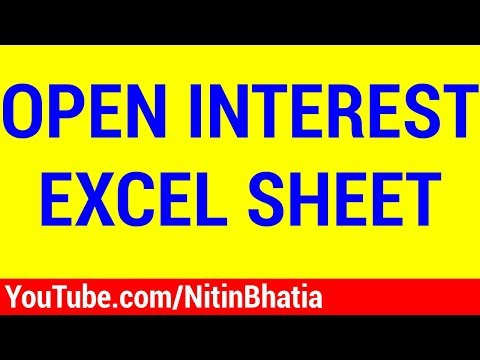 Open Interest Analysis - My Excel Sheet | HINDI