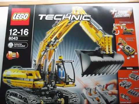 M4X's Creations - Unboxing Lego Technic - 8043 Motorized Excavator ...