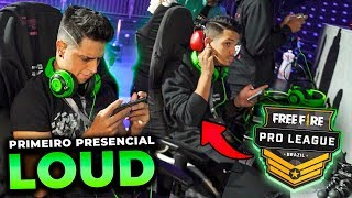 BASTIDORES DA LOUD NA PRO LEAGUE DE FREE FIRE!!