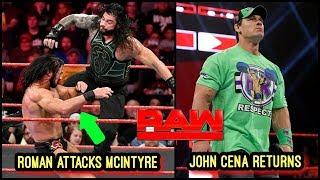 JOHN CENA RETURNS TO CHALLENGE KURT ANGLE RAW 25 MARCH 2019 | RAW 25 MARCH 2019 HIGHLIGHTS