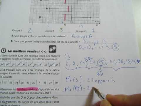 Statistiques - Exemple - Maths seconde - Les Bons Profs ...