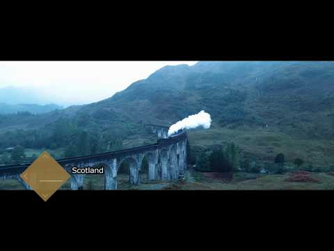 Harry Potter & other Movie Locations - Scotland by Drone